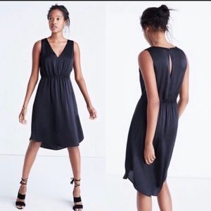 Madewell Night Out  Black Midi Dress Size 4